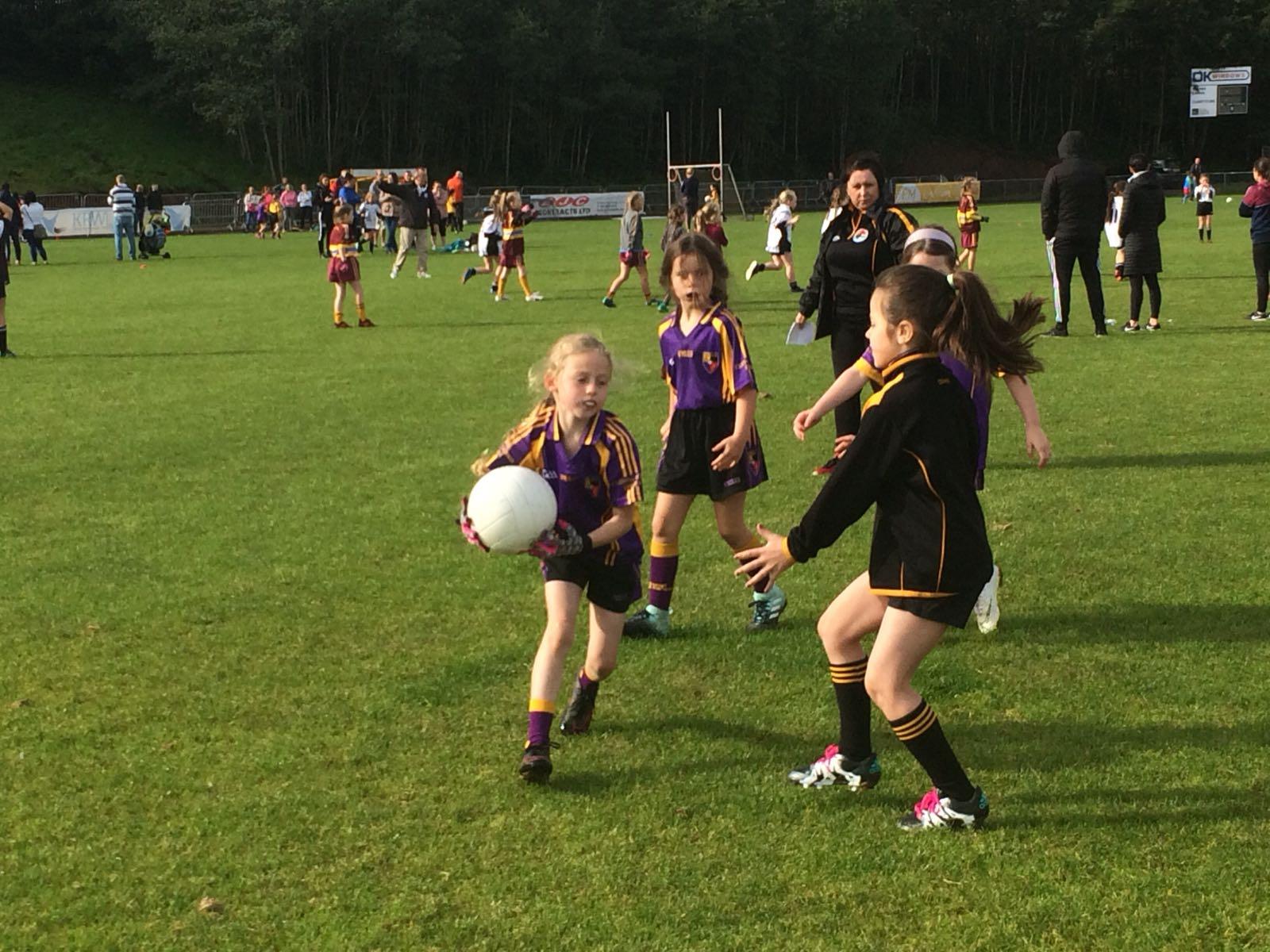 Go games Blitz for the U8 Girls in St Enda's