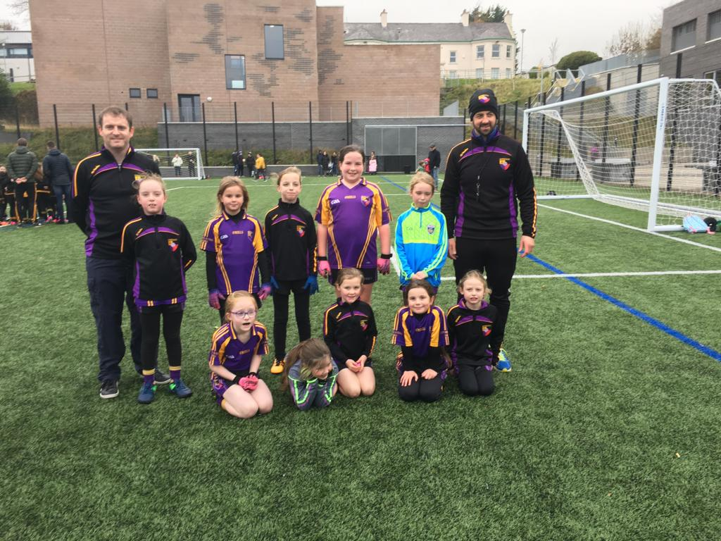 Our U8 girls travelled to Colaiste Feirste