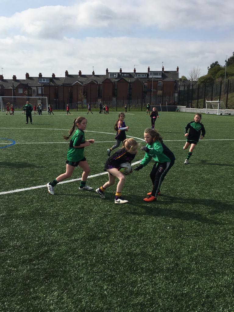 U10 girls travelled to West Belfast
