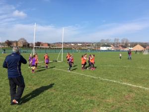 U8 girls attended their first Belfast Go Games blitz