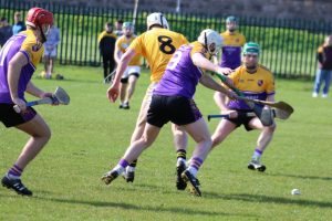 Carryduff Senior Hurlers travelled to Armagh to take on Cuchullains