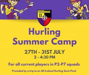 Hurling Summer Camp – Save the date
