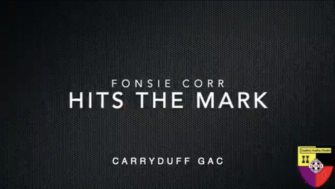 'Hit the Mark' with Fonsie Corr