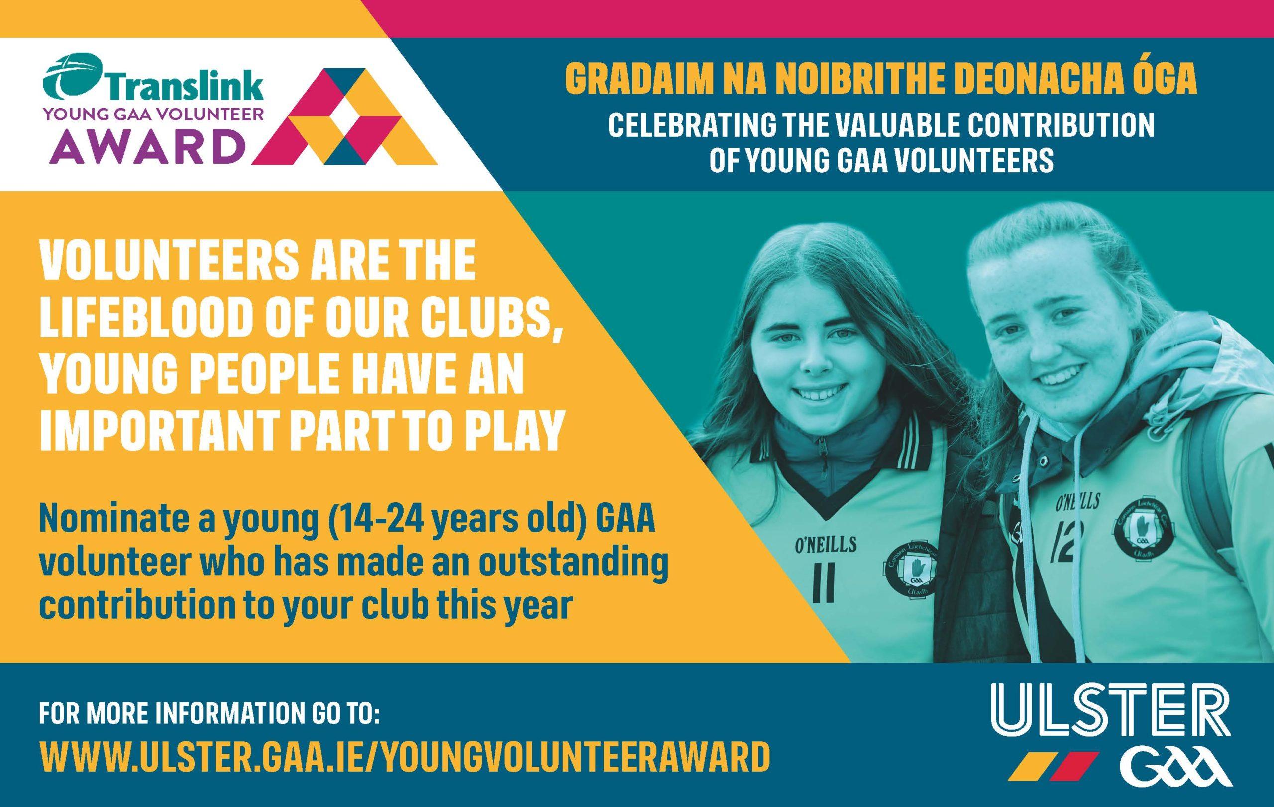 Ulster GAA Young Volunteer Of The Year Award