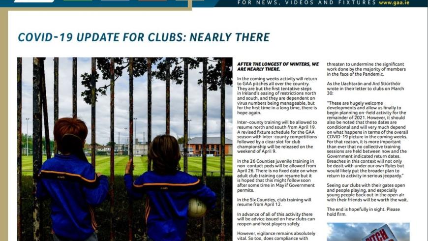 GAA Club Newsletter – April 2021