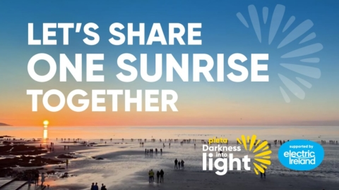 "Club supports Pieta ""Darkness into light"" sunrise event on May 8th"